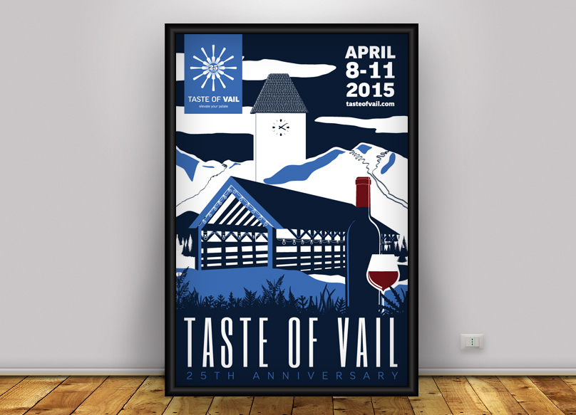 25th Anniversary Taste of Vail Poster
