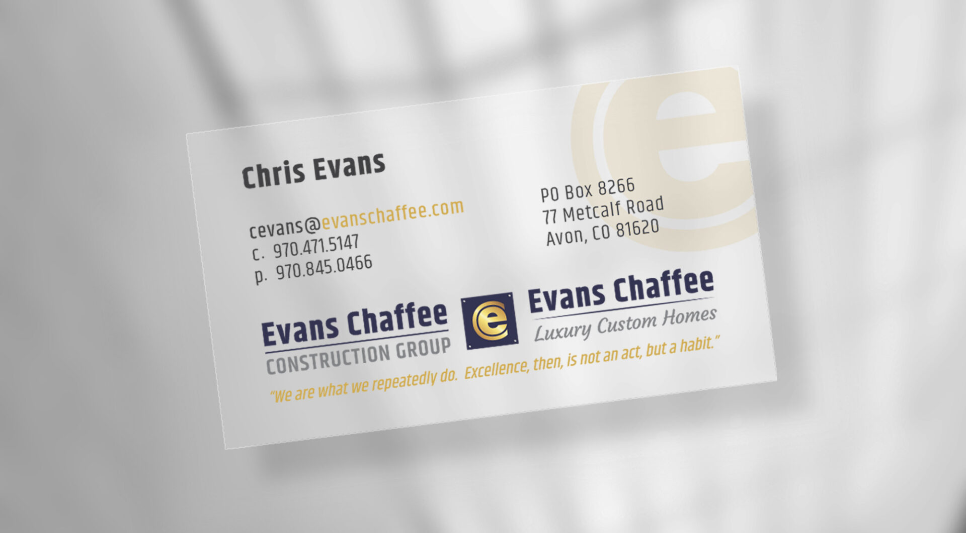 Evans Chaffee slideshow header